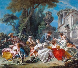 The Bird Catchers | Boucher | Painting Reproduction