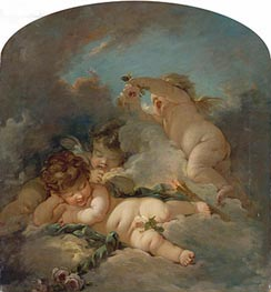 Love's Sleep | Boucher | Gemälde Reproduktion