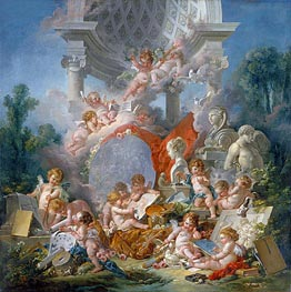 Geniuses of the Arts, 1761 by Boucher | Painting Reproduction