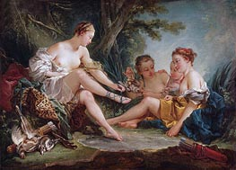 Diana's Return from the Hunt, 1745 von Boucher | Gemälde-Reproduktion