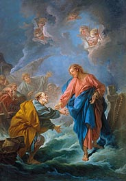 Saint Peter Attempts to Walk on Water | Boucher | Gemälde Reproduktion