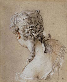 Head of a Woman from Behind, c.1740 von Boucher | Gemälde-Reproduktion