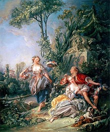 Lovers in a Park | Boucher | Painting Reproduction