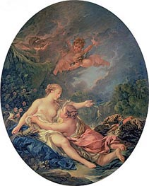 Jupiter and Callisto, 1769 von Boucher | Gemälde-Reproduktion
