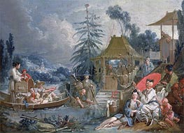 The Chinese Fishermen, c.1742 von Boucher | Gemälde-Reproduktion
