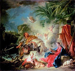 Rest on the Flight in to Egypt, 1757 by Boucher | Painting Reproduction