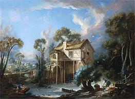 The Mill at Charenton, c.1756 by Boucher | Painting Reproduction