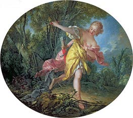 Rhea Sylvia Fleeing from the Wolf, 1756 von Boucher | Gemälde-Reproduktion