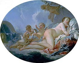 The Sleeping Venus, undated by Boucher | Painting Reproduction