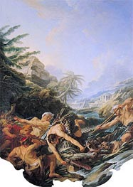 Crocodile Hunt | Boucher | Painting Reproduction