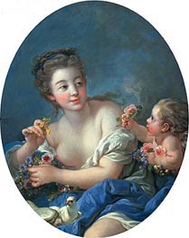 Venus and Cupid | Boucher | Gemälde Reproduktion