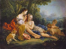 Spring, 1745 by Boucher | Painting Reproduction