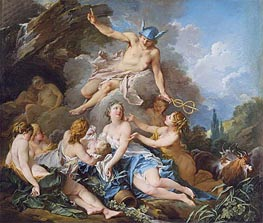 Mercury Confiding the Infant Bacchus to the Nymphs | Boucher | Painting Reproduction