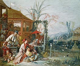 The Chinese Hunt, c.1742 by Boucher | Painting Reproduction