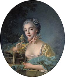 Marie-Emilie Baudouin, Daughter of the Painter, c.1758/60 by Boucher | Painting Reproduction