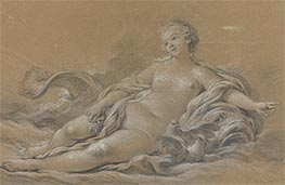 Venus Reclining on a Dolphin, c.1745 by Boucher | Painting Reproduction