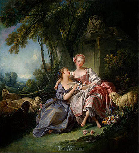 The Love Letter, 1750 | Boucher | Painting Reproduction