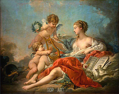 Allegory of Music, 1764 | Boucher | Gemälde Reproduktion