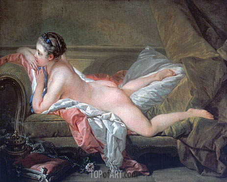 Reclining Girl, 1752 | Boucher | Painting Reproduction