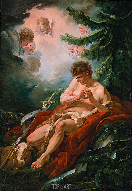Saint John the Baptist, c.1755 | Boucher | Painting Reproduction