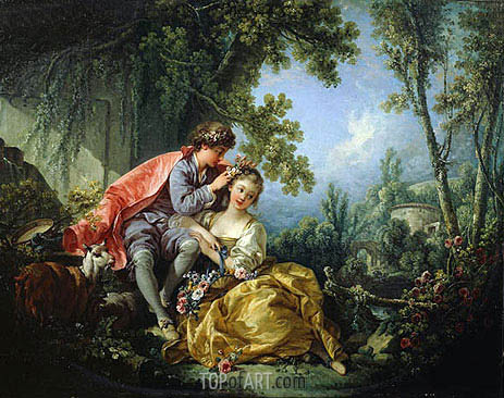 The Four Seasons: Spring, 1755 | Boucher | Painting Reproduction