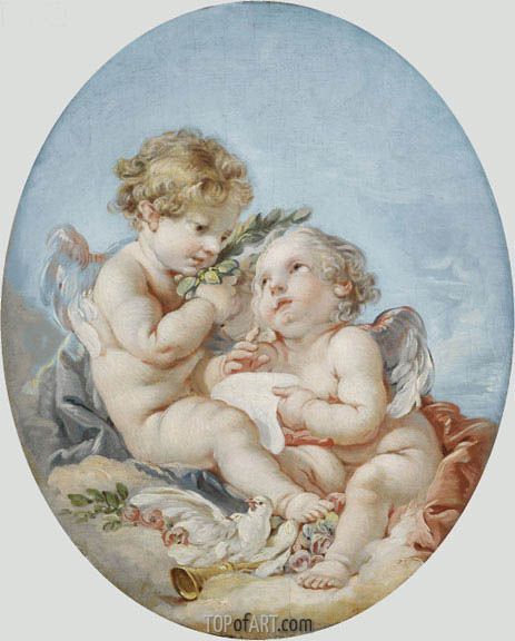 Poetry, undated | Boucher | Painting Reproduction