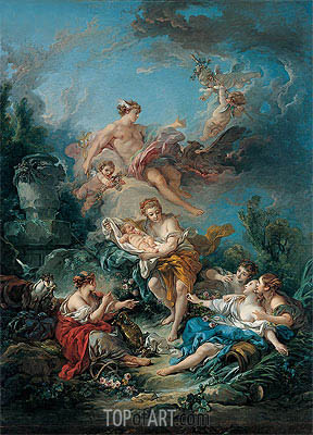 Mercury Confiding the Infant Bacchus to the Nymphs of Nysa, 1769 | Boucher | Gemälde Reproduktion