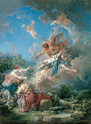 Boreas Abducting Oreithyia, 1769 | Boucher | Painting Reproduction
