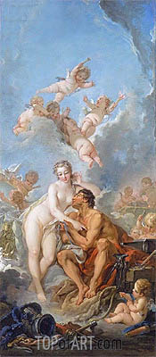 Venus and Vulcan, 1754 | Boucher | Painting Reproduction