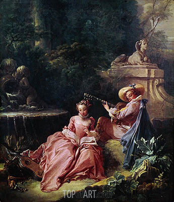 The Music Lesson, 1749 | Boucher | Painting Reproduction