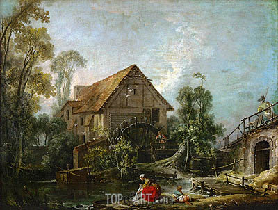 The Mill, 1751 | Boucher | Painting Reproduction