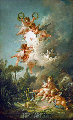 The Target of Love, 1758 | Boucher | Painting Reproduction