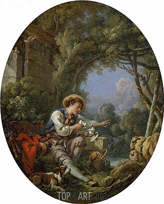 The Dispatch of the Messenger, 1765 | Boucher | Painting Reproduction