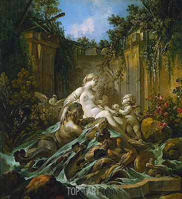 Fountain of Venus, 1756 | Boucher | Gemälde Reproduktion