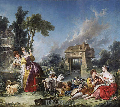 The Fountain of Love, 1748 | Boucher | Gemälde Reproduktion