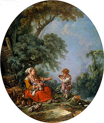 Pastoral Repast, 1769 | Boucher | Painting Reproduction