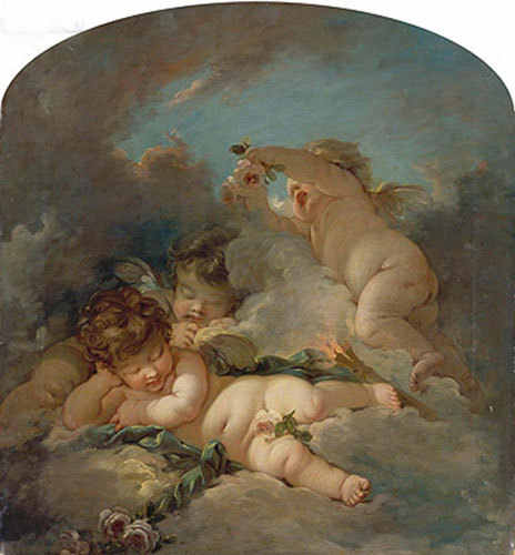 Love's Sleep, undated | Boucher | Painting Reproduction