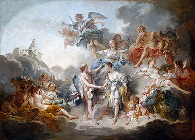 Marriage of Cupid and Psyche, 1744 | Boucher | Gemälde Reproduktion