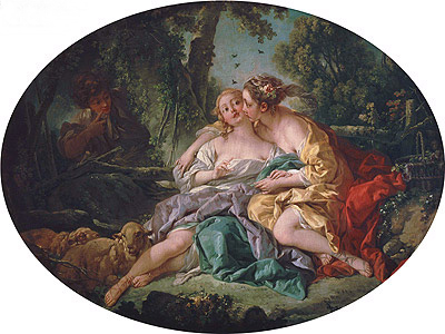 Sylvia Heals Phillis' Bee-Sting, 1755 | Boucher | Painting Reproduction