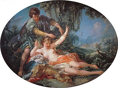 Sylvia Rescued by Aminta, 1755 | Boucher | Gemälde Reproduktion