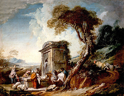 Washers, undated | Boucher | Painting Reproduction
