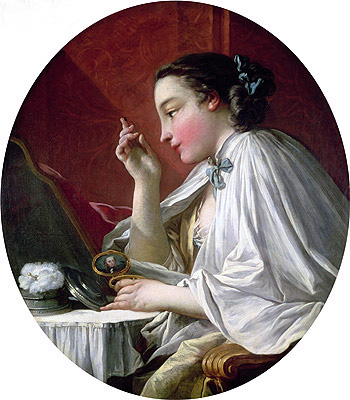 Woman at Her Toilet, undated | Boucher | Gemälde Reproduktion
