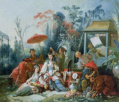 The Chinese Garden, c.1742 | Boucher | Gemälde Reproduktion