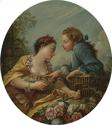 The Bird Nesters, undated | Boucher | Gemälde Reproduktion