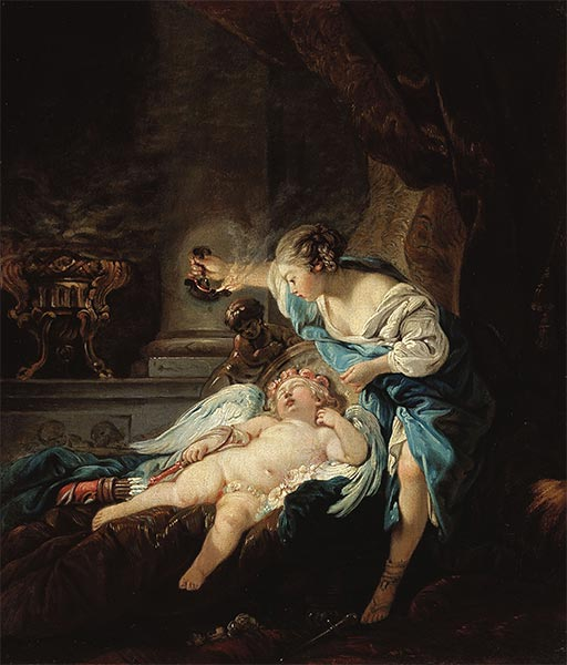 Psyche and Amour, Undated | Boucher | Painting Reproduction