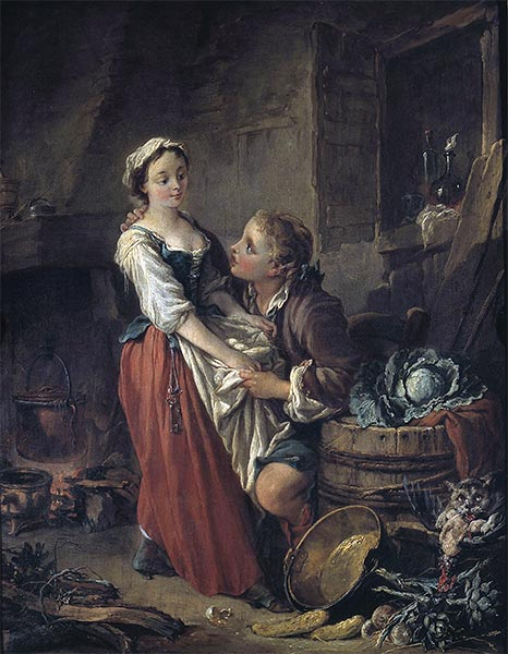 The Beautiful Cook, c.1735 | Boucher | Painting Reproduction