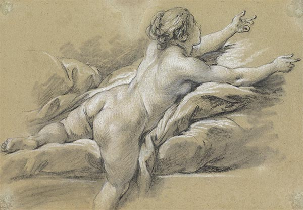 A Nude Woman Reaching to the Right, c.1769 | Boucher | Gemälde Reproduktion