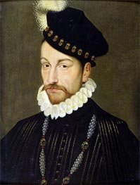 Portrait of Charles IX, c.1572/73 by Francois Clouet | Painting Reproduction