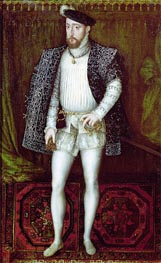 Portrait of Henri II King of France, 1547 by Francois Clouet | Painting Reproduction