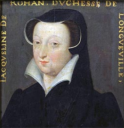 Jacqueline de Rohan Duchesse de Longueville, undated by Francois Clouet | Painting Reproduction